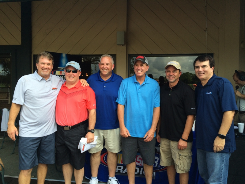NASCAR Truck Series veterans with The Morning Drive hosts Mike Bagley & Pete Pistone