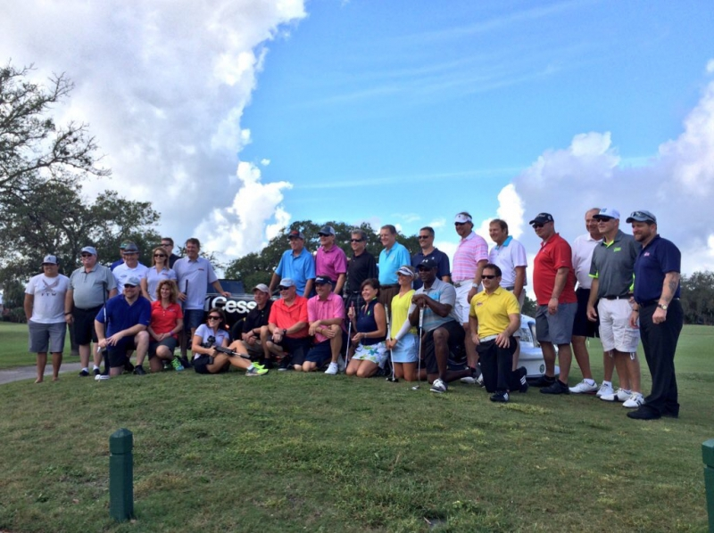 Celebrities playing in the golf tournament