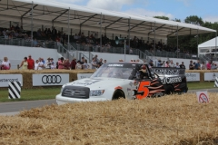 Mike Skinner on track at the Goodwood Festival of Speed
